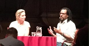 Colson Whitehead speaking in Amsterdam at De Rode Hoed