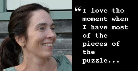 Photo fo Yvonne with quote: I love the moment when I have most of the pieces of the puzzle