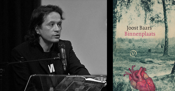 Joost Baars with the cover of his poetry collection